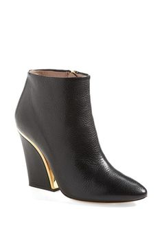 Free shipping and returns on Chloé 'Beckie' Ankle Bootie (Women) at Nordstrom.com. Pristine goldtone hardware traces the elegantly curved heel of a striking ankle bootie cast in rich, pebbled leather.