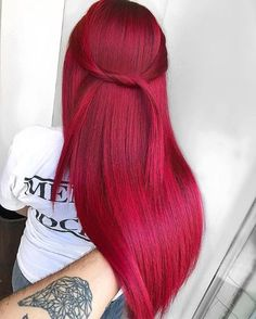 Awesome Red Hair Color Shades for Long Sleek Hair Looks in 2019 Stylesmod Awesome Red Hair Color Shades for Long Sleek Hair Looks in 2019 Stylesmod Dominique Beetz dominiquebeetzi Hair style Hottest nbsp hellip Hair Color Shades, Red Hair Color, Cool Hair Color, Red Pink Hair, Pink Yellow, Hair Goals Color, Pink Wig, Teal Orange, Blue Green