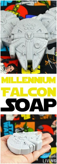 Millennium Falcon soap by Brittanie on Simplistically Living. Now you can have your very own Millennium Falcon!