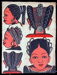 Images from the past Museum of African Art exhibit Hairdresser and Barbershop Signs in Africa African Hair Salon, African Braids, Kitsch, Barber Sign, African Hairstyles, Kid Hairstyles, Hairdos, Vintage Hairstyles, Natural Hairstyles