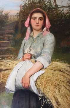 Lidderdale, Charles, (1830-1895), The Gleaner, 1890, Oil