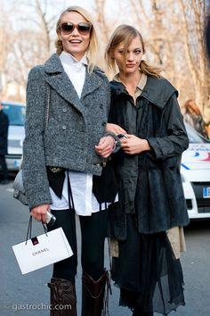 Check out the cropped coat. So cute.