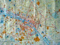 embroidered map of paris, Las Hermanas Iglesias