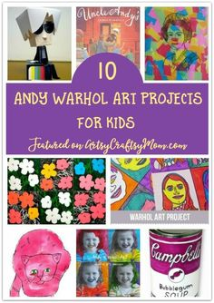 Artist Andy Warhol was an interesting individual and his works reflect his personal quirks! Learn more about him with some fun Warhol projects for kids. via @artsycraftsymom
