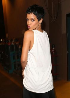 Rihanna....love the short hair