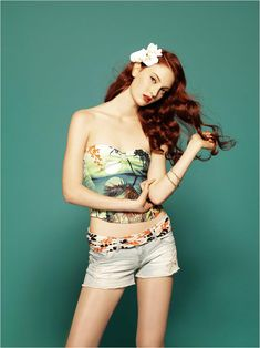 Model: Codie Young for Stradivarius' June Collection