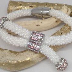 Bracelet en perles de verre miyuki blanche