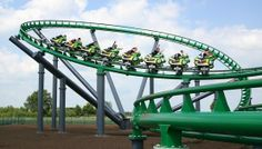 Booster Bike is a steel roller coaster located at Toverland in the Netherlands. It is the prototype of a motorbike rollercoaster.