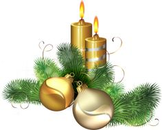 Christmas candles PNG image