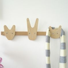 The Animals of Whittling Wood Coat Hooks - contemporary - kids decor - other metro - by The Oak Room