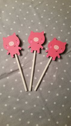 Check out this item in my Etsy shop https://www.etsy.com/listing/219388201/12-precious-pig-cupcake-toppers