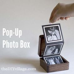DIY Christmas Presents To Make For Parents - DIY Pop-Up Photo Box - Cute, Easy and Cheap Crafts and Gift Ideas for Mom and Dad - Awesome Things to Make for Mothers and Fathers - Dollar Store Crafts and Cool Things to Make on A Budger for the Holidays - DI