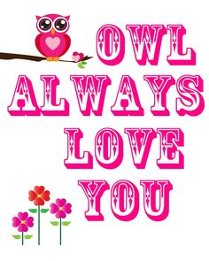 Pink Owl Clip Art | Our House of Pink: DIY Owl Print.