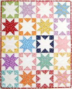 Earlier this year I was thrilled to be asked to join the Penny Rose Design Team . Being able to design and create projects with up. Star Quilt Blocks, Star Quilts, Scrappy Quilts, Baby Quilts, Patchwork Quilting, Quilting Tutorials, Quilting Projects, Quilting Designs, Quilting Ideas
