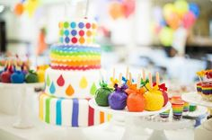 Rainbow Party Ideas | Party via Kara's Party Ideas | Kara'sPartyIdeas.com #Rainbow #Party ...