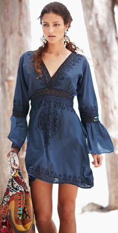 Navy Tunic | Easy and comfortable in summer