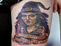 Ten Wonderful Witch Tattoos - http://www.beautyandhairstyle.com/home-decor/ten-wonderful-witch-tattoos.html