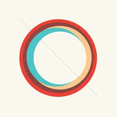 Matthew Korbel-Bowers art print. Future Globes 005. I can't get enough of simple geometric art.