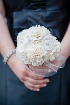 Small white bridesmaid bouquet