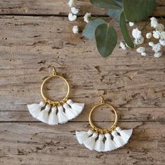 Cute tassel earrings #accessories