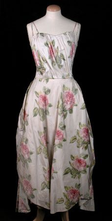 Liberty  Costume  Date 1958 with pink and green flower print