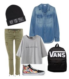 """Off Le Wall"" by native-skulls on Polyvore featuring Vans, Hudson Jeans and Splendid"