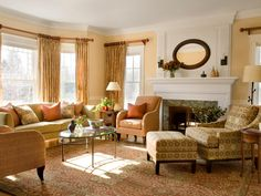 american federal style. i adore this couch arrangement | design