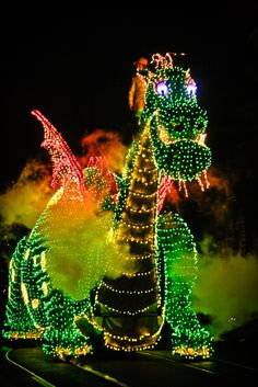 Pete's Dragon in the Main Street Electrical Parade. My first memory is watching this on main street and waving to Pete, falling in long with my first ginger. ;)