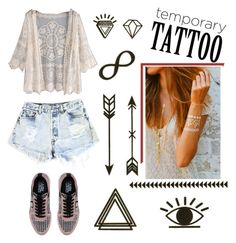 """""""Untitled #260"""" by janicevc on Polyvore featuring Levi's, Karl Lagerfeld and temporarytattoo"""