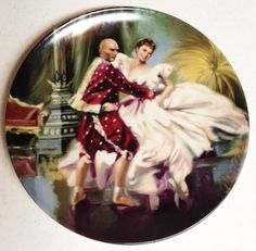 William Chambers Collectible Plate  Shall We Dance by RusticBuckets, $10.00 # king and I #musical plate # collectible plate
