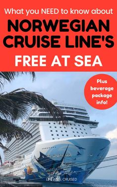 Are you planning a cruise with Norwegian Cruise Line and wondering if the Free at Sea perks are worth it? There are a few details you should know before you decide if NCL's Free at Sea is your best option. Details about the drink package too, of course! Packing List For Cruise, Cruise Tips, Cruise Travel, Cruise Vacation, Shopping Travel, Beach Travel, Vacation Ideas, Vacations, Cruise Ship Reviews