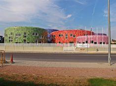 The Children Education Center & Children Innovation Center building in Paterna, Spain.    Tile of Spain Inspiration Gallery Photos | tileofspainusa.com