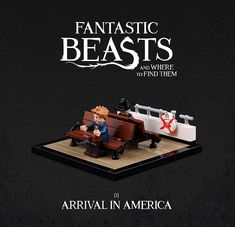LEGO builder Thorsten Bonsch has made a lovely collection of scenes from the movie Fantastic Beasts and Where to Find Them. Harry Potter Toys, Images Harry Potter, Lego Memes, Lego Hogwarts, Lego Creative, Lego Craft, Cool Lego, Awesome Lego, Lego Worlds
