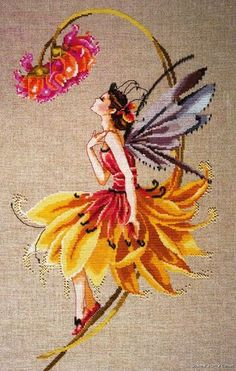 The Petal Fairy Mirabilia Counted Cross Stitch Pattern Nora Corbett Chart MD82 | eBay