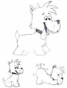 Desenho do Dia #254 - Cachorro Cartoon, exercício 2 - Soraia Casal