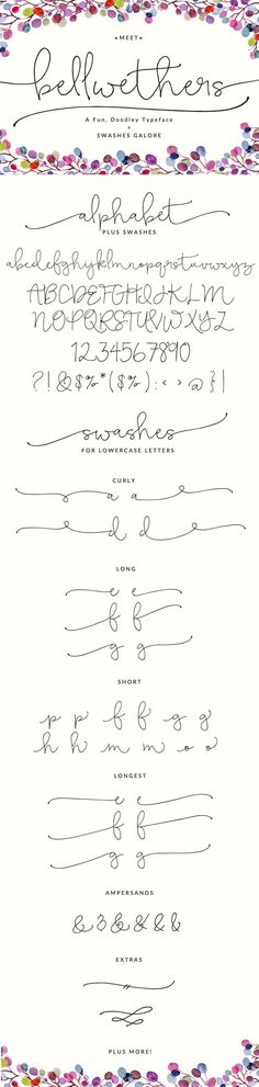 These are great fonts...
