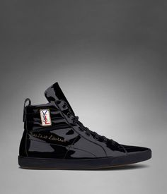 Check out YSL Classic High-top Sneaker in Black Patent Leather. For $410, you too can get that casual and comfy but subtly-flashy look on your feet.