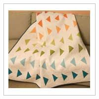 This is a variation on a Flying Geese quilt. I planned to sew one and like the simplicity of this so much, I am scrapping my plan for this.