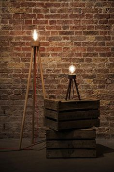 Old Irish cottage inspired lamp by BeBenny Design fitted to handcrafted dark walnut tripod. http://www.archello.com/en/product/little-lamp #Interior #Lighting #Design