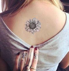 Small Grey & Black Sunflower Tattoo – Temporary Tattoos By Ftattoos Tattoos On Side Ribs, Sun Tattoos, Small Tattoos, Cool Tattoos, Tatoos, Sunflower Foot Tattoos, Sunflower Tattoo Design, Ankle Tattoos For Women, Small Sunflower