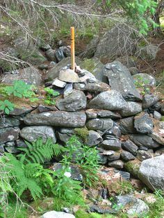 Survey marker, Oak Island, Nova Scotia by Jo Atherton, via Flickr