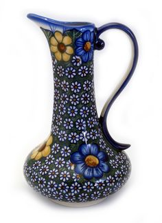 .8 Liter Lotos Pitcher (BK2) from The Polish Pottery Outlet