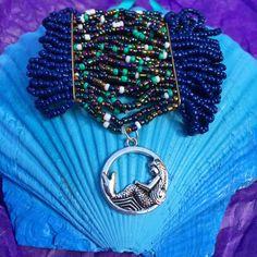 Unique mermaid dangle charm bracelet #mermaid #jewelry #fantasy #stretch #bracelets  https://www.etsy.com/listing/247992349/mermaid-beaded-charm-bracelet-mermaid
