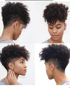 Tapered Natural Hair Cut, Natural Hair Short Cuts, Short Natural Haircuts, Short Hair Cuts, Natural Hair Styles, Afro Hairstyles, American Hairstyles, Black Hairstyles, Short Hair Undercut