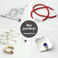 New handmade jewellery range out now! Over 60 pieces inspired by colour and Moroccan and Middle Eastern design elements.  http://simonewalsh.com #jewelry #jewellery