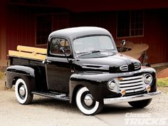 Check out this 1948 Ford F1 that has PPG black paint and a Ford 302ci engine. Read more about this classic only at www.classictrucks.com, the official website for Classic Trucks Magazine!
