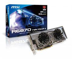 MSI Radeon HD 6870 1 GB 256-bit GDDR5 PCI Express 2.1 x16 HDCP Ready CrossFireX Support Video Card with Eyefinity R6870 Twin Frozr II by MSI. $179.00. MSI R6870 Twin Frozr II Radeon HD 6870 1GB 256-bit GDDR5 PCI Express 2.1 x16 HDCP Ready CrossFireX Support Video Card with Eyefinity Twin Frozr II, 1 x HDMI, 2 x mini Display Port. Save 19% Off!