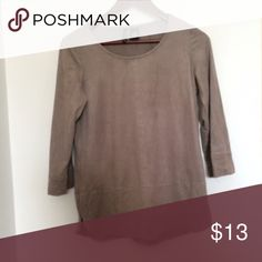 Brown suede shirt Never worn! Excellent condition! Same day shipping! Ask about bundle deals 😄 Tops