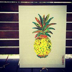 Pineapple Painting by Erin Bacchi at Deer Pineapple www.deerpineapple.com