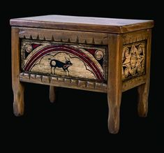 soutwest style painted furniture | Pueblo Chest: Southwest Furniture, Santa Fe Style: Southwest Spanish ...